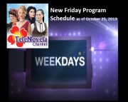 TeleNovela Channel Friday Program Schedule