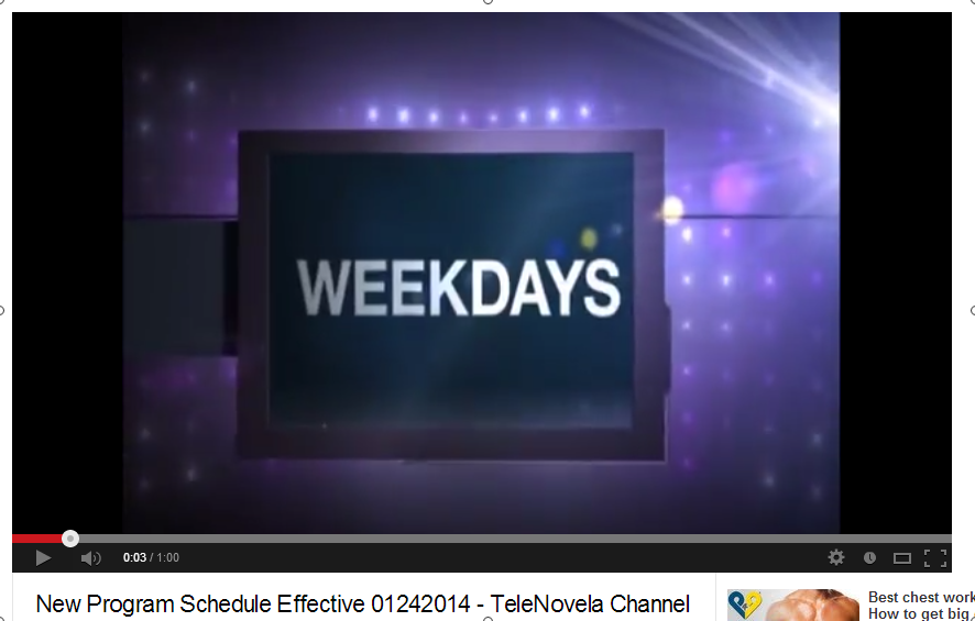 New Program Schedule Effective 01242014   TeleNovela Channel   YouTube